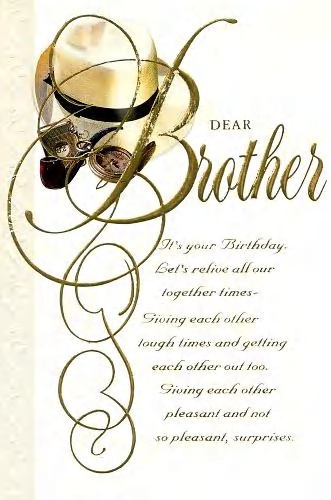 Birthday Card For Brother Inside Verse