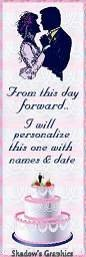 From this Day Forward (Personalized) Bookmark